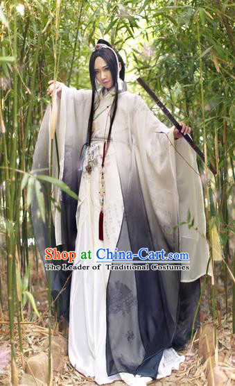 Chinese Ancient Cosplay Knight Swordsman Clothing Jin Dynasty Nobility Childe Costume for Men