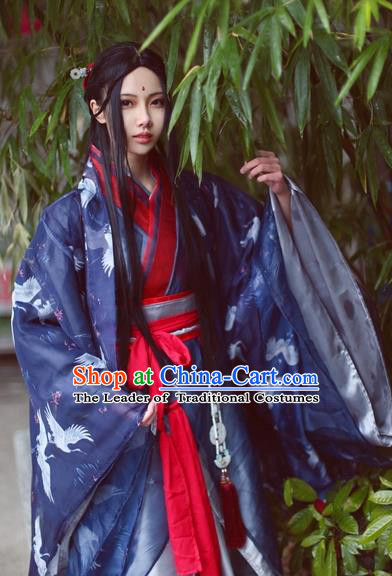 Chinese Ancient Music Master Costume Cosplay Swordsman Clothing Jin Dynasty Nobility Childe Costumes for Men