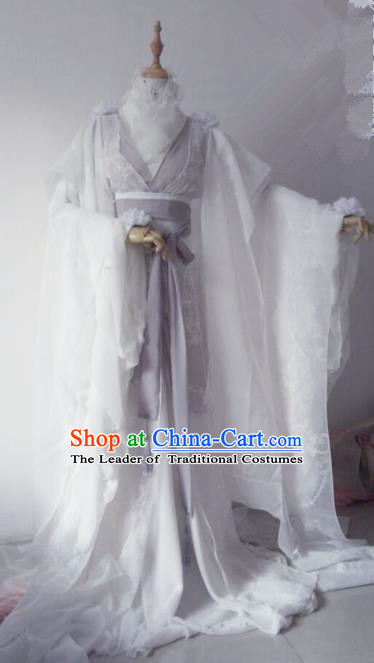 Chinese Ancient Cosplay Knight Costume Han Dynasty Swordswoman Embroidered Hanfu Dress for Women