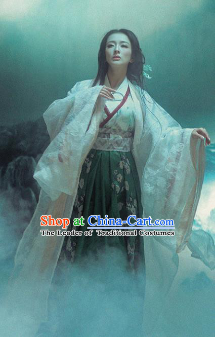 Chinese Ancient Palace Lady Hanfu Dress Traditional Jin Dynasty Manchu Imperial Concubine Embroidered Costume for Women