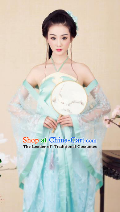 Chinese Ancient Imperial Concubine Hanfu Dress Traditional Tang Dynasty Palace Lady Embroidered Costume for Women