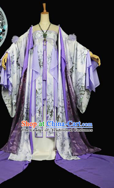 Chinese Ancient Cosplay Swordswoman Costume Tang Dynasty Imperial Consort Embroidered Hanfu Dress for Women