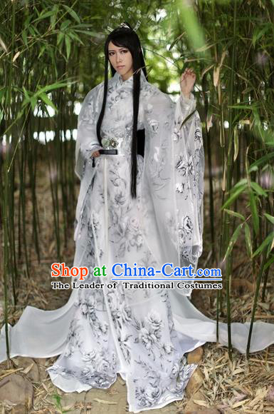 Chinese Ancient Cosplay Scholar Nobility Childe Costumes Jin Dynasty Swordsman Clothing for Men