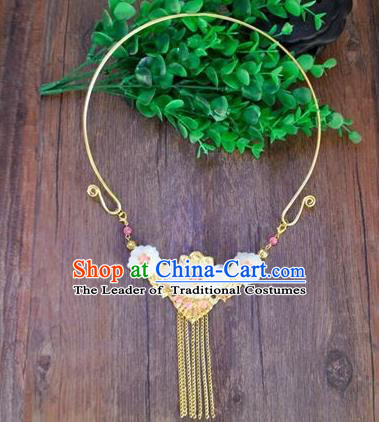 Chinese Ancient Handmade Wedding Necklet Jewelry Accessories Jade Necklace for Women
