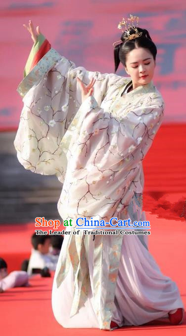 Chinese Ancient Princess Costumes Traditional Jin Dynasty Imperial Consort Embroidered Hanfu Dress for Women