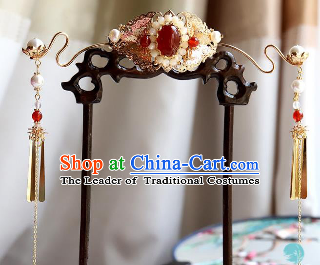 Chinese Ancient Handmade Classical Phoenix Coronet Hair Accessories Hanfu Hairpins for Women