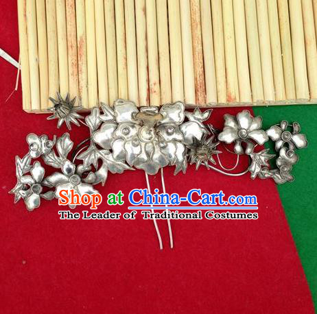 Chinese Traditional Miao Nationality Hair Accessories Miao Sliver Hairpins Headwear for Women