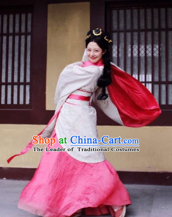 Traditional Chinese Ancient Costume Qin Dynasty Hanfu Clothing