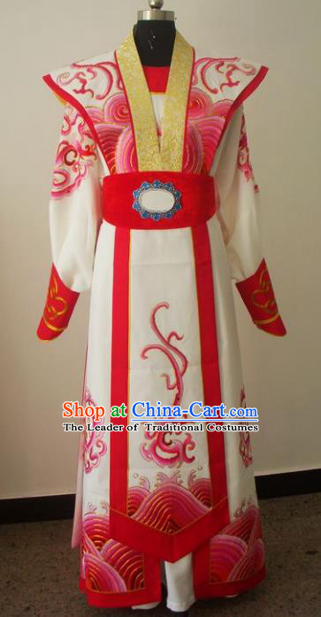 Chinese Traditional Beijing Opera General Embroidered Costumes China Peking Opera Niche Silk Robe for Adults
