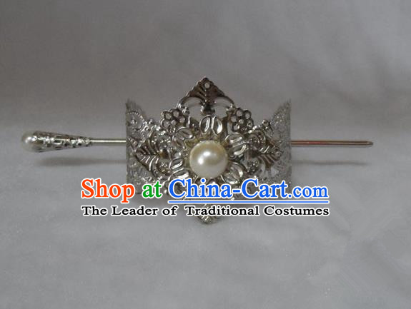 Chinese Traditional Ancient Prince Tuinga Hair Accessories Swordsman Hairpins for Men