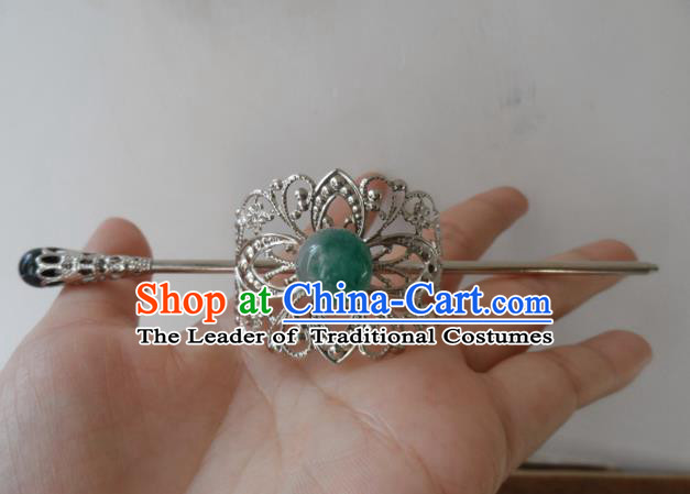 Chinese Traditional Ancient Handmade Hairdo Crown Hair Accessories Swordsman Hairpins for Men