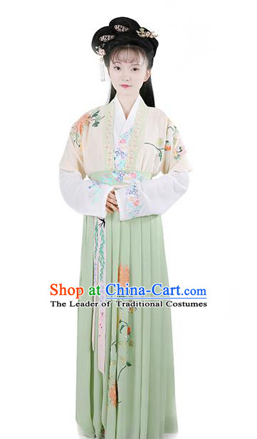 Ancient Chinese Traditional Ming Dynasty Princess Embroidered Costumes Complete Set for Women