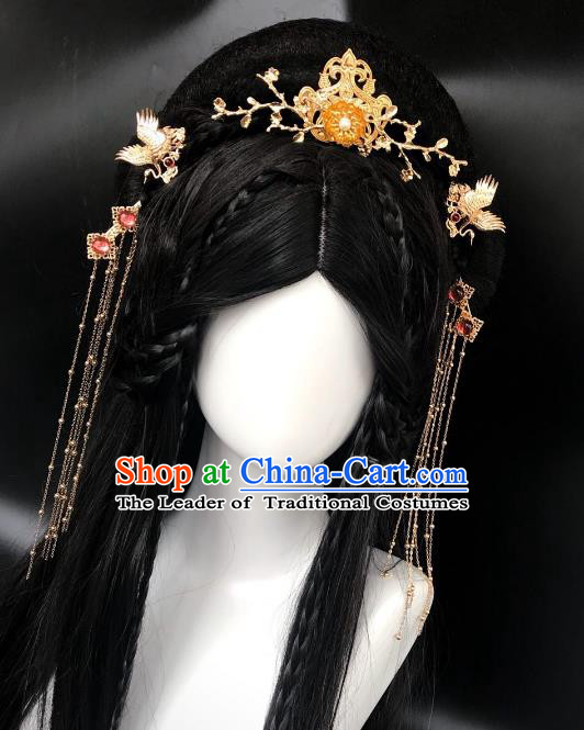 Chinese Traditional Hair Accessories Ancient Tassel Hair Clip Hairpins Complete Set for Women