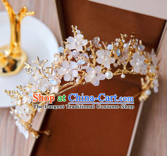 Top Grade Wedding Bride Hair Accessories Princess Flowers Hair Clasp Royal Crown for Women