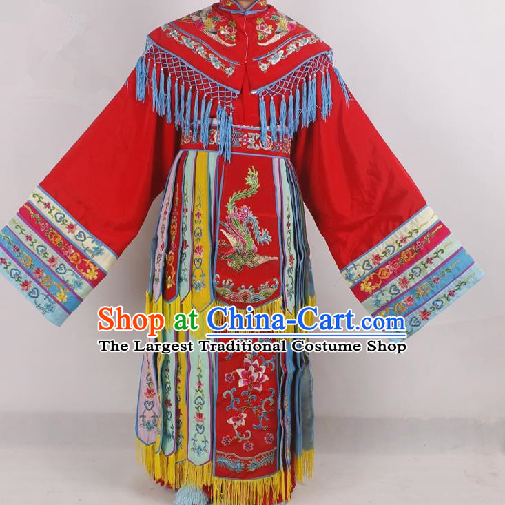Chinese Peking Opera Diva Red Costume Ancient Imperial Consort Embroidered Clothing for Adults