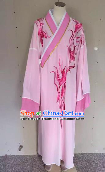 Chinese Traditional Beijing Opera Scholar Pink Robe Peking Opera Niche Clothing for Adults