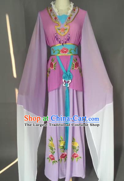 Chinese Beijing Opera Maidservants Purple Clothing Ancient Palace Lady Costume for Adults