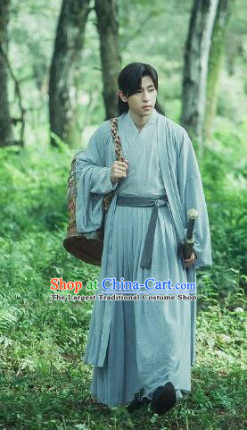 The Honey Sank Like Frost Chinese Ancient Swordsman Nobility Childe Costume for Men