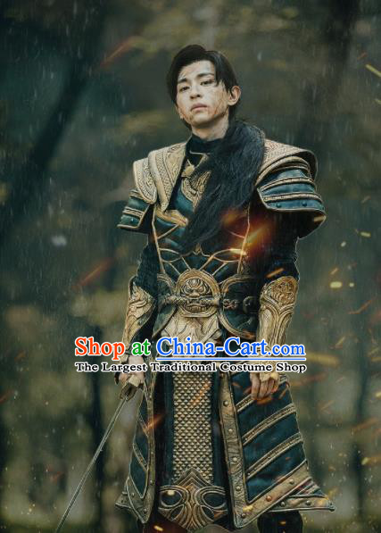 The Honey Sank Like Frost Chinese Ancient Body Armor General Swordsman Mars Costume for Men