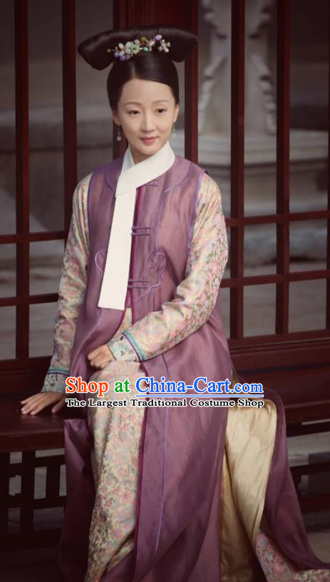Chinese Ancient Qing Dynasty Court Maid Ruyi Royal Love in the Palace Costume for Women