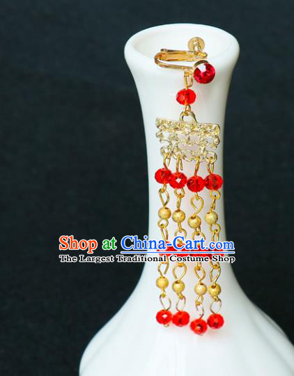 278f12ccc3c17 Chinese Traditional Jewelry Accessories Ancient Red Beads Tassel ...