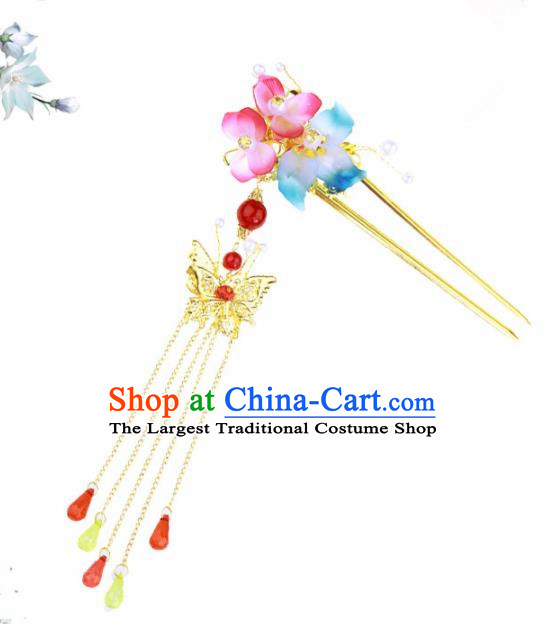 Chinese Traditional Hair Accessories Ancient Hanfu Flowers Hair Clip Hairpins for Women