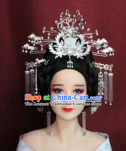 Chinese Ancient Princess Hair Accessories Palace Lady Phoenix Coronet Hairpins for Women