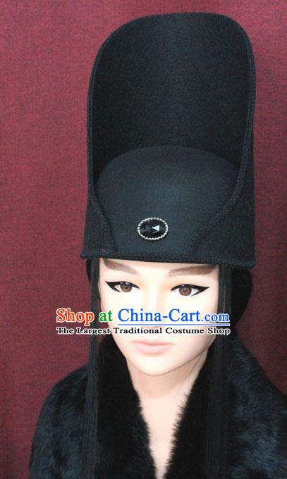 Chinese Traditional Tang Dynasty Swordsman Hair Accessories Ancient Imperial Bodyguard Hat for Men