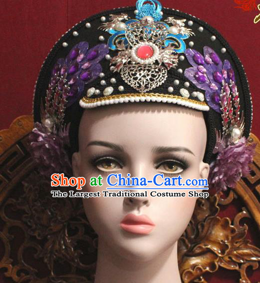 Chinese Ancient Qing Dynasty Empress Handmade Phoenix Coronet Hair Accessories Hairpins for Women
