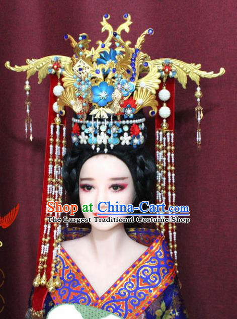Chinese Ancient Ming Dynasty Empress Hair Accessories Phoenix Coronet Hairpins for Women