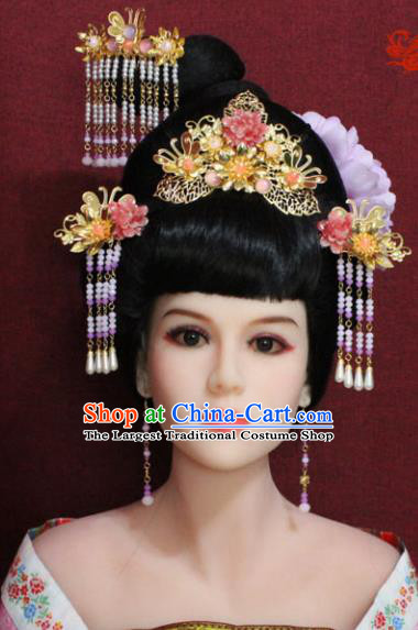 Chinese Handmade Imperial Consort Phoenix Coronet Hairpins Ancient Peri Hair Accessories for Women