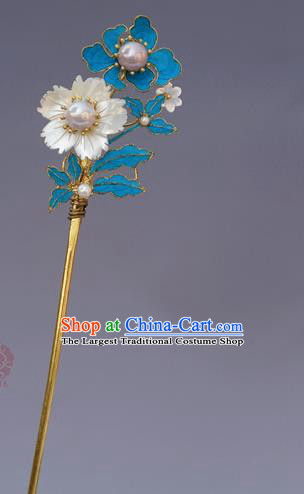 Chinese Ancient Qing Dynasty Handmade Hair Accessories Tian-Tsui Hairpins for Women