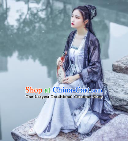 Chinese Ancient Swordswoman Song Dynasty Young Lady Costumes Complete Set for Women