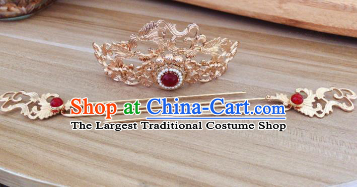 Chinese Ancient Handmade Hairpins Hair Accessories Hair Crown Complete Set for Women