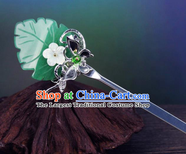 Chinese Ancient Handmade Palace Hanfu Leaf Hairpins Hair Accessories Hair Clip for Women