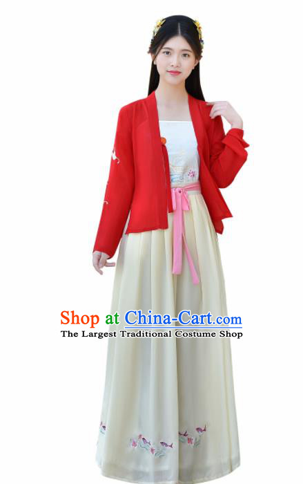 Traditional Chinese Ancient Young Lady Costumes Song Dynasty Clothing for Women