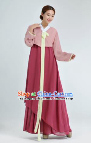 Traditional Korean Costumes Asian Korean Hanbok Blouse and Skirt for Women