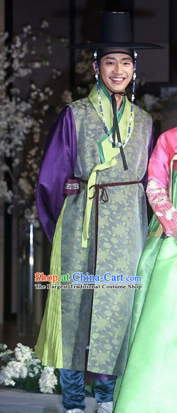 Traditional Korean Costumes Asian Korean Palace Prince Hanbok for Men