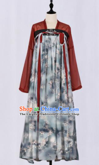 Chinese Ancient Fairy Costumes Traditional Tang Dynasty Court Maid Hanfu Dress for Women