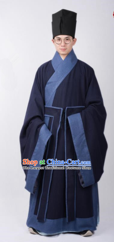 Chinese Ancient Scholar Clothing Traditional Ming Dynasty Taoist Priest Costumes for Men