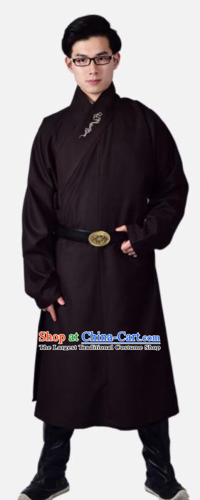 Chinese Ancient Swordsman Black Clothing Traditional Ming Dynasty Buster Costume for Men