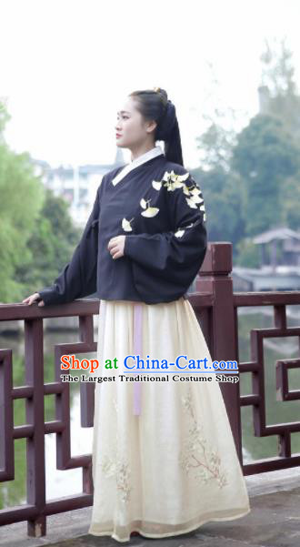 Chinese Ancient Palace Lady Dress Ming Dynasty Princess Embroidered Costumes for Rich Women