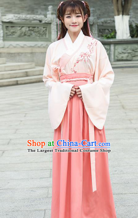 Chinese Traditional Ming Dynasty Nobility Lady Costume Ancient Embroidered Hanfu Dress for Women