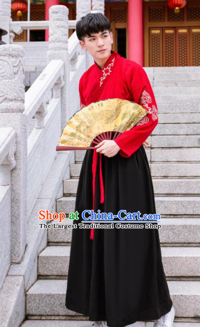 Chinese Ancient Traditional Han Dynasty Swordsman Costumes for Men