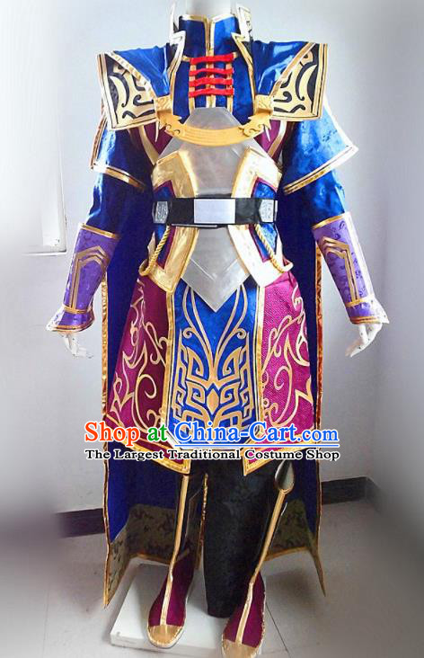 Asian Chinese Cosplay Customized General Warrior Costume Ancient Swordsman Clothing for Men