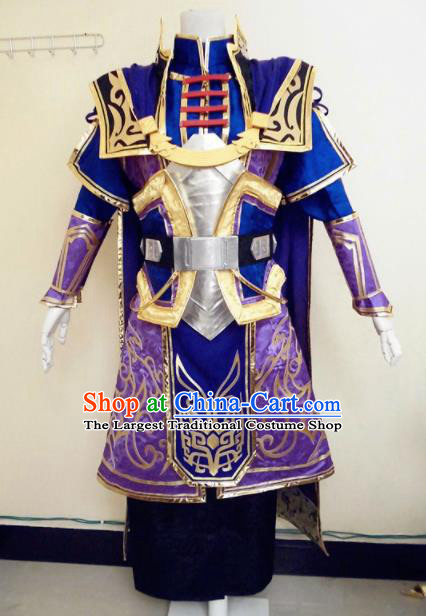 Asian Chinese Cosplay Warrior Customized Costume Ancient General Swordsman Clothing for Men