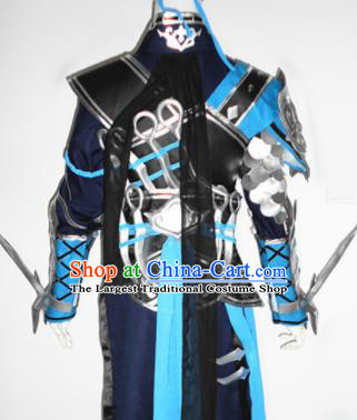 Asian Chinese Cosplay Warrior Customized Costume Ancient Swordsman Clothing for Men