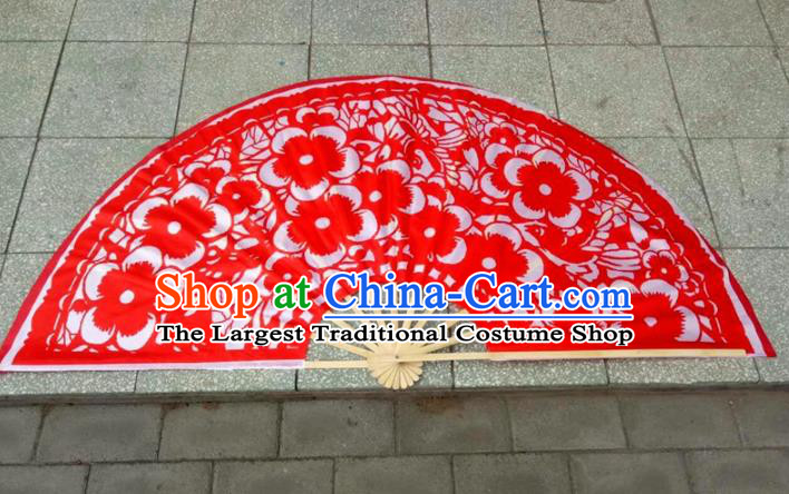 Traditional Chinese Crafts Folding Fan China Folk Dance Fans Red Fans