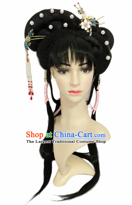 Chinese Ancient Fairy Hair Accessories Beijing Opera Diva Hairpins and Wigs for Women