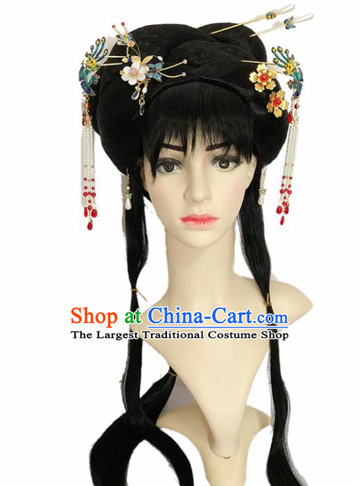 Chinese Ancient Princess Hair Accessories Beijing Opera Diva Hairpins and Wigs for Women